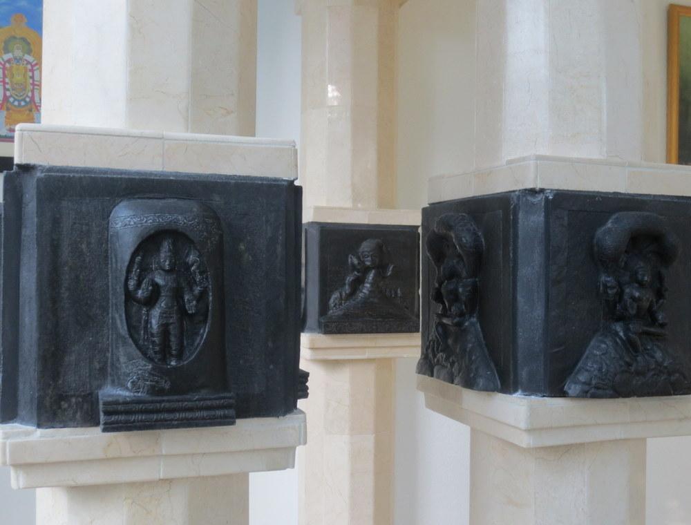 Clockwise from right - Dakshinamurti, Lingodbhava, Siva saving all from the poison